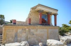 Knossos norr ingång 2 Arkivfoto