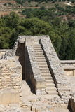 Knossos, oude stad op het Eiland Kreta stock afbeelding