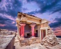 Knossos pałac, Crete wyspa, Grecja obraz royalty free
