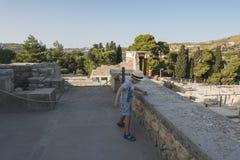 Knossos pałac Crete Zdjęcia Royalty Free