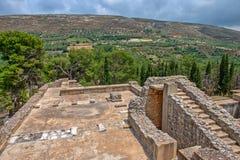 Knossos pałac na Crete, Grecja Obrazy Stock