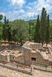 Knossos pałac na Crete, Grecja Obrazy Royalty Free