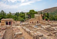 Knossos pałac na Crete, Grecja Zdjęcia Royalty Free