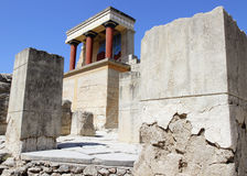 Knossos pałac ruiny krety Greece Heraklion Obrazy Stock