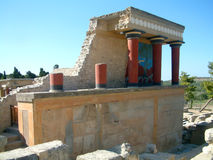 Knossos palace. Acient Greek palace Royalty Free Stock Photos