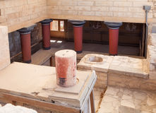Knossos Palace At Crete, Greece. Stock Photography