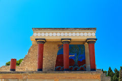 Knossos palace at Crete Royalty Free Stock Image