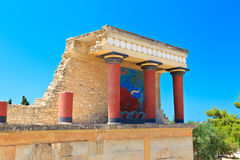 Knossos palace at Crete Royalty Free Stock Images