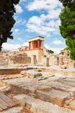 Knossos palace at Crete, Greece Stock Images
