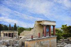 Knossos palace. Crete. Greece. Fragment of Knossos palace. Crete. Greece Royalty Free Stock Photo