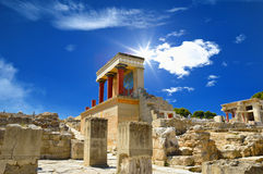 Knossos palace at Crete, Greece Knossos Palace Stock Photography