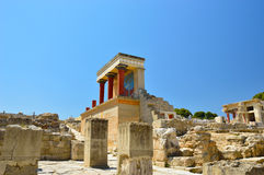 Knossos palace at Crete, Greece Knossos Palace Royalty Free Stock Image