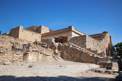 Knossos palace at Crete, Greece. Royalty Free Stock Photo