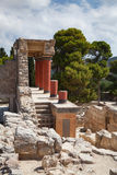 Knossos palace at Crete, Greece. Royalty Free Stock Images