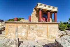 Knossos palace, Crete - Greece Stock Image