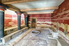 Knossos palace, Crete - Greece Royalty Free Stock Images
