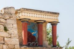Knossos palace at Crete, Greece stock photos