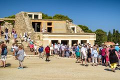 Knossos palace, Crete - Greece Stock Photo