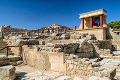 Knossos palace, Crete - Greece Stock Images