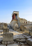 Knossos palace. Crete, Greece Royalty Free Stock Photos