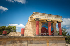 Knossos palace, Crete island, Greece. Royalty Free Stock Photos