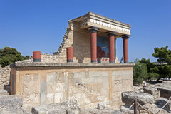 Knossos palace in Crete stock photos