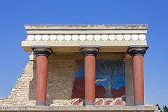 Knossos palace in Crete Stock Images