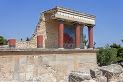 Knossos palace in Crete stock image
