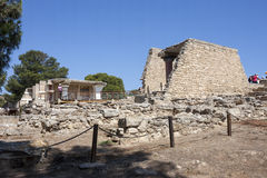 Knossos palace in Crete stock photo