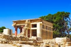 Knossos Palace of king Minos, Crete, Greece. Royalty Free Stock Photo
