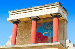 Knossos Palace of king Minos, Crete, Greece. Royalty Free Stock Images