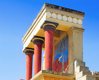Knossos Palace of king Minos, Crete, Greece. Stock Photos