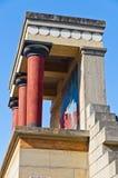 Knossos palace near Heraklion, island of Crete Stock Photos