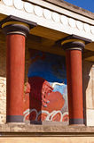 Knossos palace near Heraklion, island of Crete Stock Photo