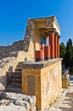 Knossos palace near Heraklion, island of Crete Royalty Free Stock Photos