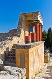 Knossos palace near Heraklion, island of Crete Royalty Free Stock Photos