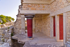 Knossos palace near Heraklion, island of Crete Royalty Free Stock Photography