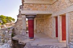 Knossos palace near Heraklion, island of Crete Royalty Free Stock Photography