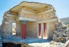 Knossos palace room, Crete, Greece Stock Photos