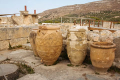 Knossos palace vases Royalty Free Stock Photography