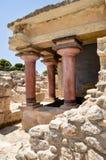 Knossos-Palast die zeremonielle und politische Mitte lizenzfreies stockbild