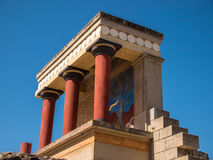 Knossos-Palast-Nordeingang Kreta Griechenland Stockbild