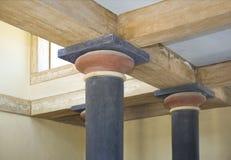 Knossos Pokój górny Tronowy 2, Crete, Grecja Zdjęcia Stock