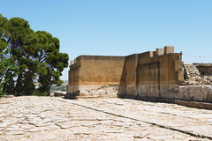 Knossos processional way royalty free stock photo