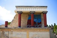 Knossos. Ruin at Crete Greece Royalty Free Stock Photos