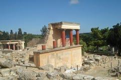 Knossos. Ruined palace of Knossos, Crete Royalty Free Stock Photos