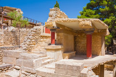 Knossos ruins. Ruins of Knossos - legendary palace of Minos Stock Images