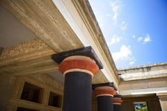 Knossos. Site, details of pillars, column Stock Photo