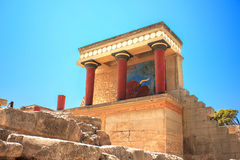 Knossos slott Arkivfoto
