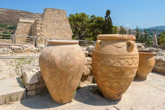 Knossos slott. Crete Arkivfoto